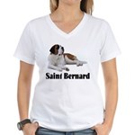 Saint Bernard Women's V-Neck T-Shirt