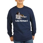 Saint Bernard Long Sleeve Dark T-Shirt