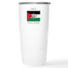 Free Palestine Travel Mug