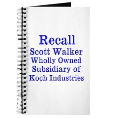 Recall Scott Walker Journal