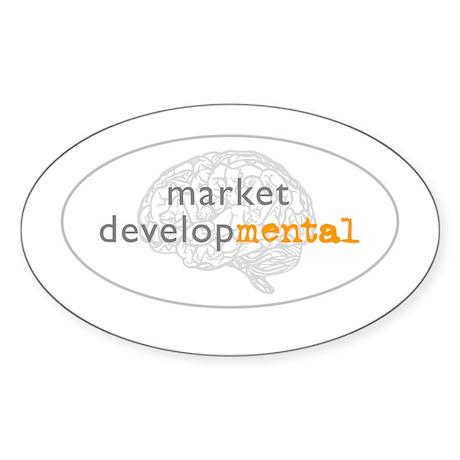 marketdevelopMENTAL Oval Sticker