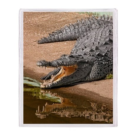 Gator Reflections Throw Blanket