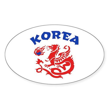 Korea Dragon Sticker (Oval)