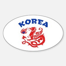 Korea Dragon Sticker (Oval)