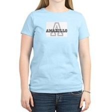 Letter A: Amarillo Women's Pink T-Shirt