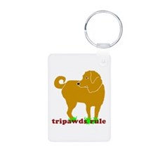 Golden Tripawds Rule Keychains