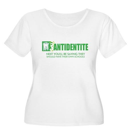 Antidentite kramer Women's Plus Size Scoop Neck T-
