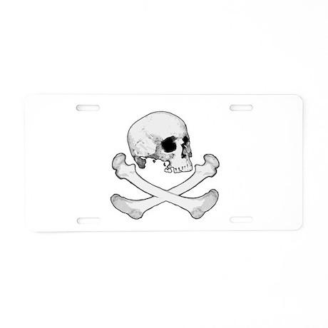 Skull & Bones Aluminum License Plate