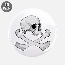 """Skull & Bones 3.5"""" Button (10 pack)"""