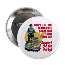 "$4.99 Support the Tea Party! 2.25"" Button"