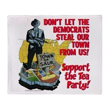 $59.99 Support the Tea Party! Throw Blanket