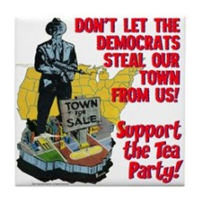 $9.99 Support the Tea Party! Tile Coaster
