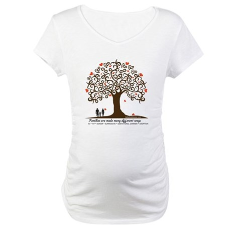 INFERTILITY Family Tree Maternity T-Shirt