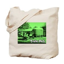 Trailer Park Green Vintage Tote Bag