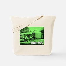 Trailer Park Green Vintage Tote Bag
