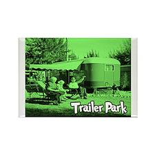 Trailer Park Green Vintage Rectangle Magnet