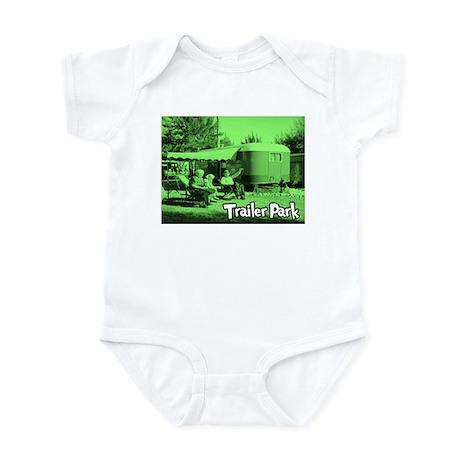 Trailer Park Green Vintage Infant Creeper