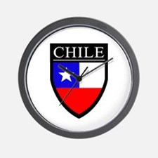 Chile Flag Patch Wall Clock