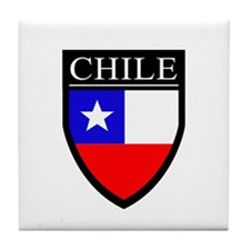 Chile Flag Patch Tile Coaster