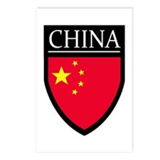China Flag Patch Postcards (Package of 8)