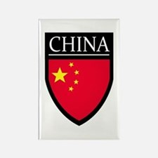 China Flag Patch Rectangle Magnet