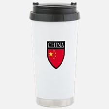 China Flag Patch Stainless Steel Travel Mug