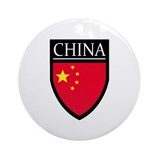 China Flag Patch Ornament (Round)