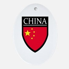 China Flag Patch Ornament (Oval)
