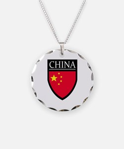 China Flag Patch Necklace
