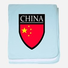 China Flag Patch baby blanket