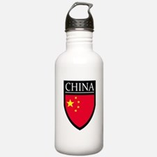 China Flag Patch Water Bottle