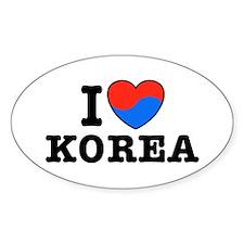 I Love Korea Decal