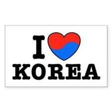 I Love Korea Decal