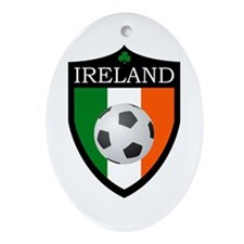 Ireland Soccer Patch Ornament (Oval)