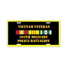 504th Military Police Aluminum License Plate