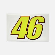 VR 46 Redline Rectangle Magnet