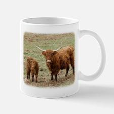 Highland Cow with calf 9Y316D-048 Mug
