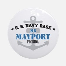 US Navy Mayport Base Ornament (Round)