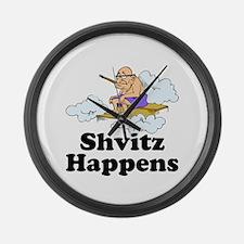Shvitz Happens Large Wall Clock