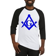 Blue Square and Compass Baseball Jersey