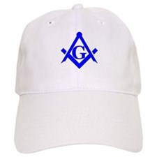 Blue Square and Compass Baseball Cap