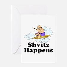 Shvitz Happens Greeting Cards