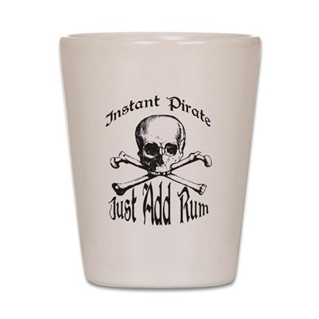 Instant Pirate Shot Glass