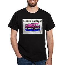 Mobile Home Girl Black T-Shirt
