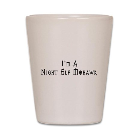 Night Elf Mohawk Shot Glass