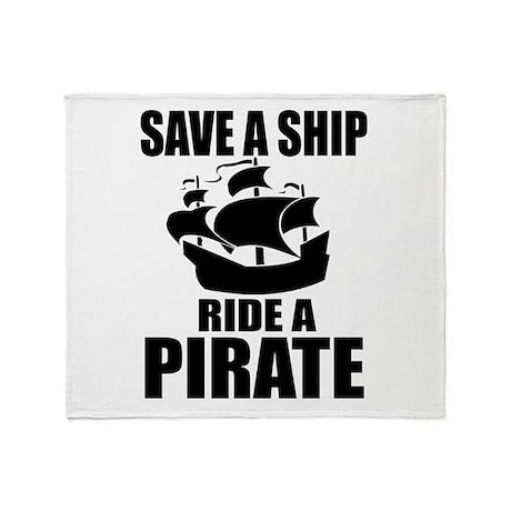 Save A Ship Throw Blanket