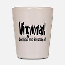 Wingwoman Shot Glass
