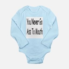 Ass To Mouth Long Sleeve Infant Bodysuit