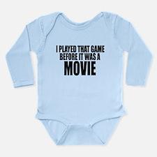 Game Before Movie Long Sleeve Infant Bodysuit