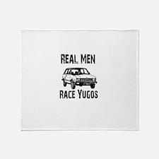 Real Men Race Yugo's Throw Blanket
